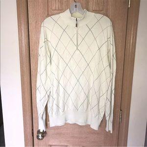 Peter Millar Silk Cotton Blend 1/4 Zip Sweater